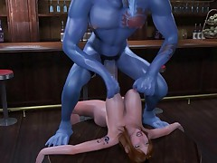 3D cartoon monster sex