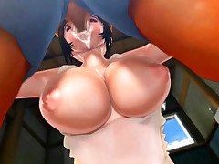 3D anime cock sucking