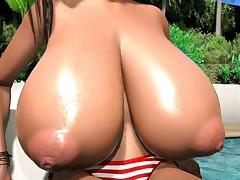 3D cartoon big boobs video