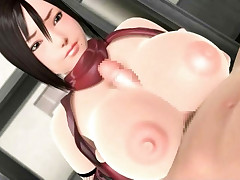 Bigtitted 3D anime hottie gets her pussy fucked in this sex vid