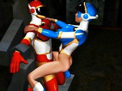 Lusty 3D space girl makes use of a schlong of a bound guy