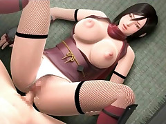 Bigtitted 3D hentai hottie getting titfucked and hammered hard
