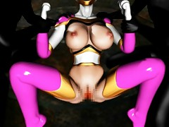 Busty 3D girl in a space suit boned by an extra hung king