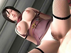 Huge breasted 3D anime babe dicked after a jug fuck